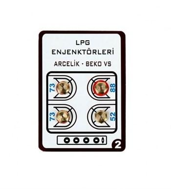 Lpg Ocak Memesi̇ Enjektör 4lü Set Arçelik Beko Uyumlu Lpg Tüp