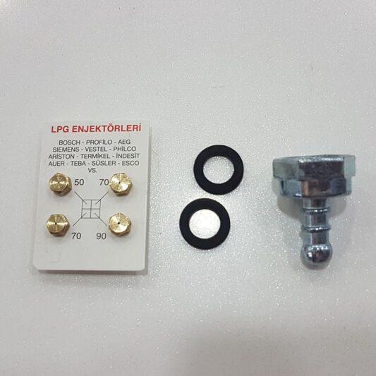 Lpg Ocak Memesi Enjektör 4 Lü Set Ve Dirsek Conta Bütün Markalar