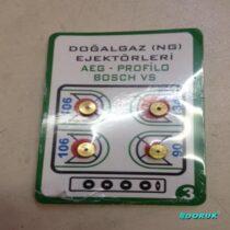 100 ADET Doğalgaz Enjektör Ocak Takımı (Bosch, Siemens, Profilo,