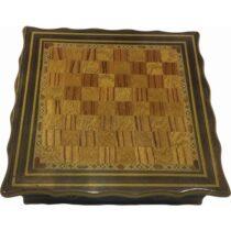 Sedef Mozaik Işlemeli El Yapımı Çekmeceli Satranç 1
